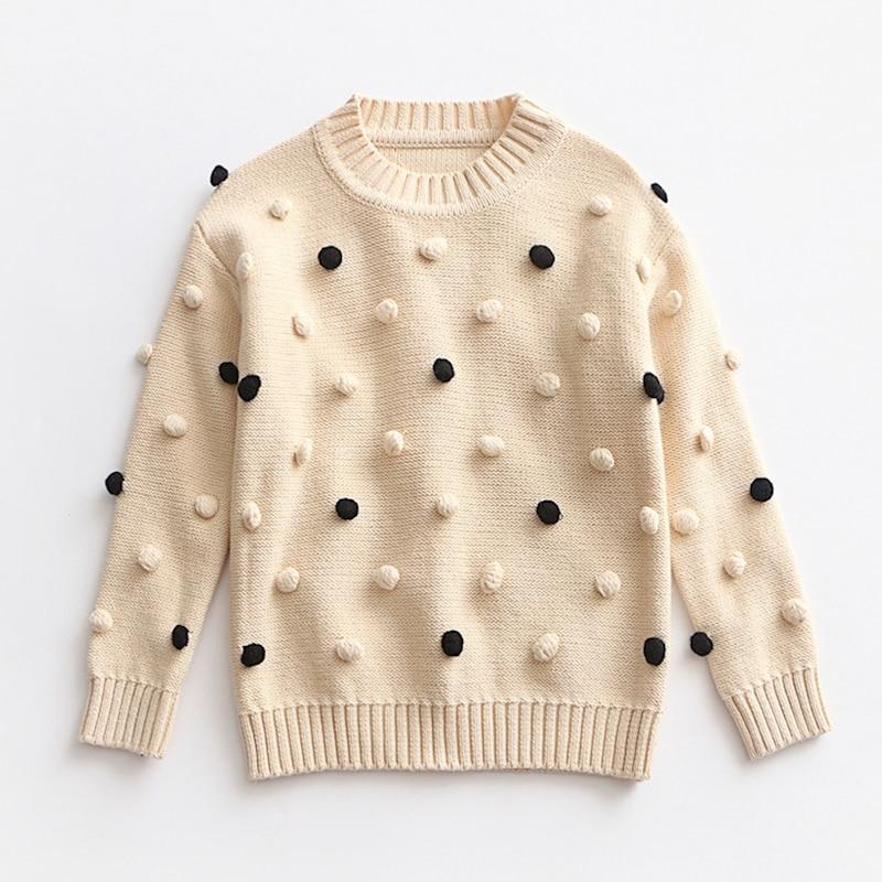 Myudi Baby Girls Sweaters Autumn Winter Children Long