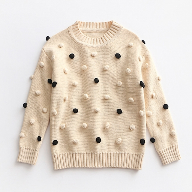 bb726e3ed MYUDI Baby Girls Sweaters Autumn Winter Children Long Sleeve Knitted ...