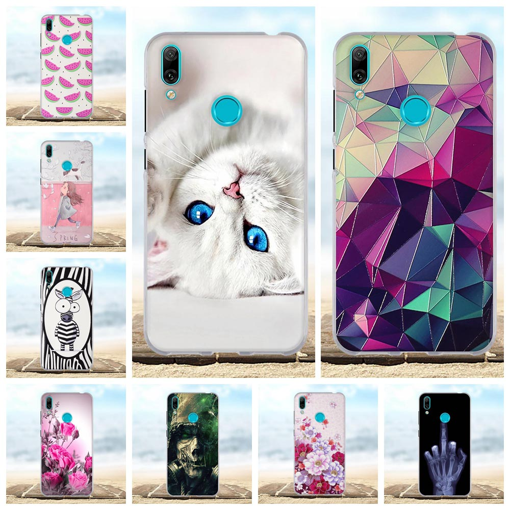 For <font><b>Huawei</b></font> <font><b>Y7</b></font> Prime <font><b>2019</b></font> <font><b>Case</b></font> Silicone TPU Cover For <font><b>Huawei</b></font> <font><b>Y7</b></font> Prime <font><b>2019</b></font> <font><b>Case</b></font> Cute Bag <font><b>Cat</b></font> Funda For <font><b>Huawei</b></font> <font><b>Y7</b></font> <font><b>2019</b></font> Phone <font><b>Cases</b></font> image