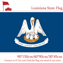 Free shipping Louisiana State Flag America 90*150cm 3x5ft Banners With Brass Metal Holes 60*90cm 30*45cm Car Flag For Campaign free shipping little canada city flag 3x5ft banners with brass metal holes 30 45cm car flag 90 150cm 60 90cm flag for vote event