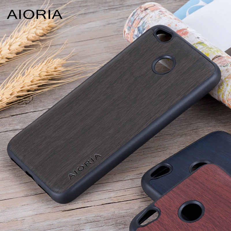 Wooden design case for Xiaomi Redmi 4X (5.0inch) soft TPU silicone material&PU leather covers coque fundas for xiaomi Redmi 4X