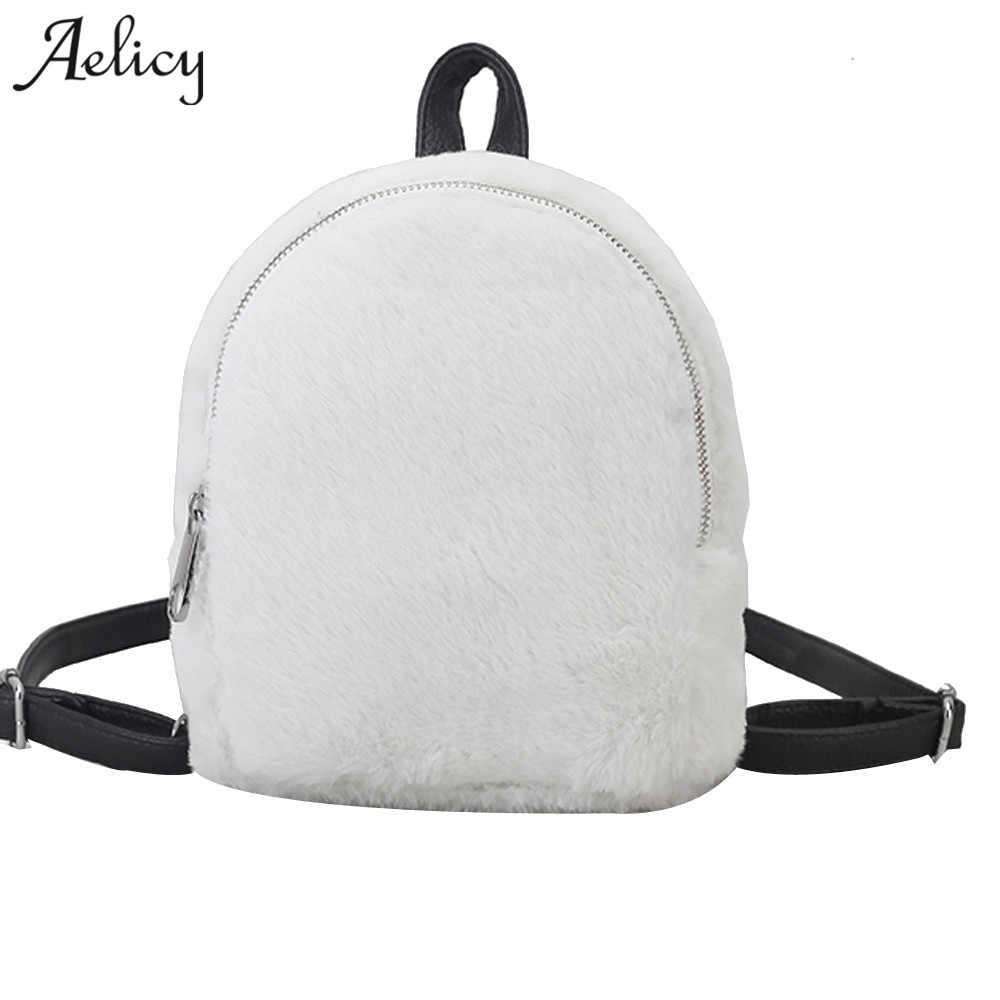 d4860e12f493 Aelicy 2018 Fashion Women Mini Velvet Backpack Designer High Quality ...