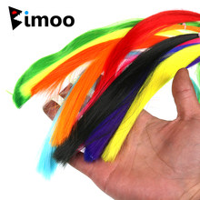 Bimoo 2Packs Pesca A Mosca Ultrafine In Fibra di Nylon Streamer Materiali di Legatura Fly Sabiki Jigging Ganci Lure Bucktail Maschere Fare In Fibra di(China)