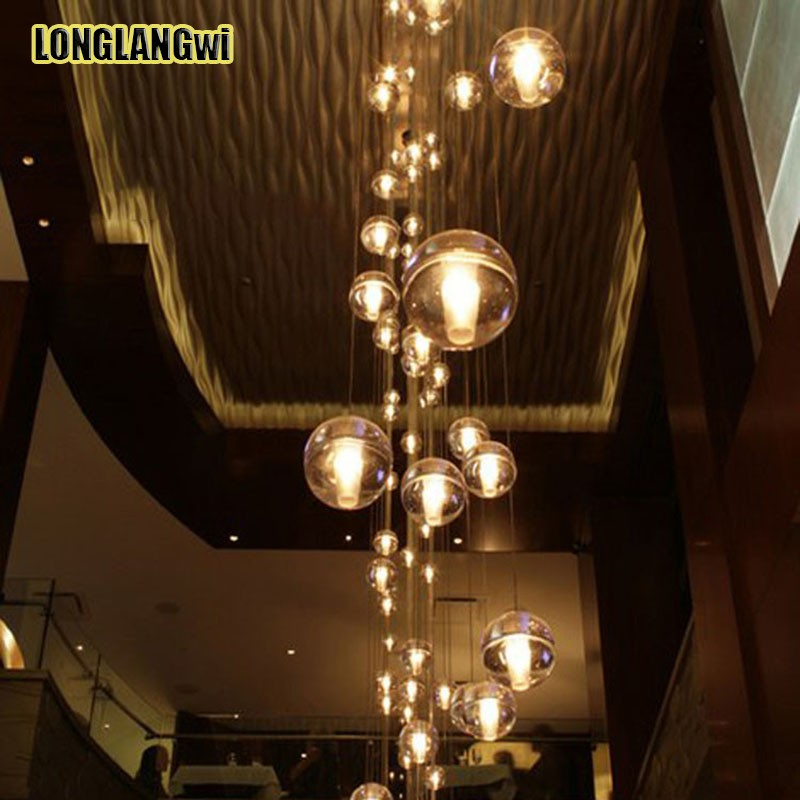 modern stairwell lighting. aliexpresscom buy modern crystal chandelier lights fixtures magic ball lustres loft stairwell light led meteor shower lamp from lighting t
