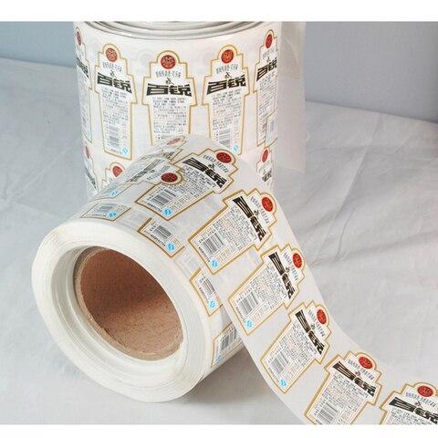 materiais de vinil personalizado impressao da etiqueta autocolante com o tempo curto do