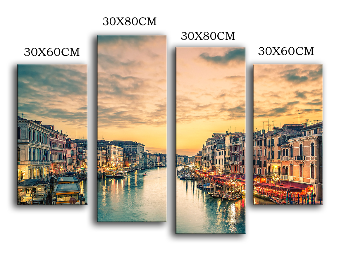 2016 new product Print Oil Painting Wall painting 4PC/SET Venice ...