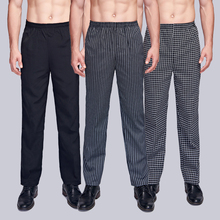 Spring & Summer Gourmet Service Free Shipping Fall Chees Pants Work Pants Check Striped Chef Pants Neutral Chef Pants