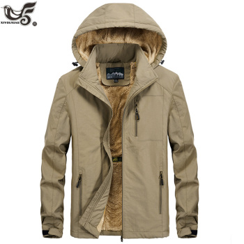 XIYOUNIAO plus size M 5XL 6XL Fur Hooded Winter Jacket men Fashion Warm Wool Liner