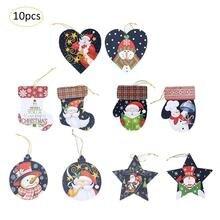 2018 Party Decoration Santa Claus Elk Pendant 10Pcs Christmas Tree Pendant Christmas Decorations For Home New Year Decoration
