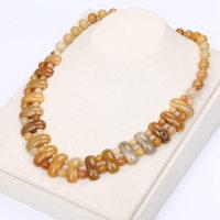 Topaz Big Necklace Natural Stone Crystal Unicorn Men Women Bead Chain Exquisite Handmade Jewelry Labradorite Necklace Boho Jade