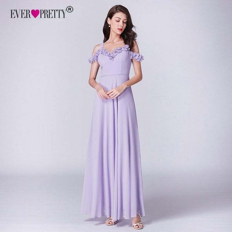 4947542e6d Lilac Dress For Wedding Party Ever Pretty EP07414LL Elegant A Line Long  Chiffon Bridesmaid Dresses Vestidos De Damas De Honor