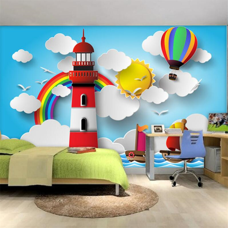 Beibehang Custom Wallpapers Large Mural 3D Cubic Cartoon