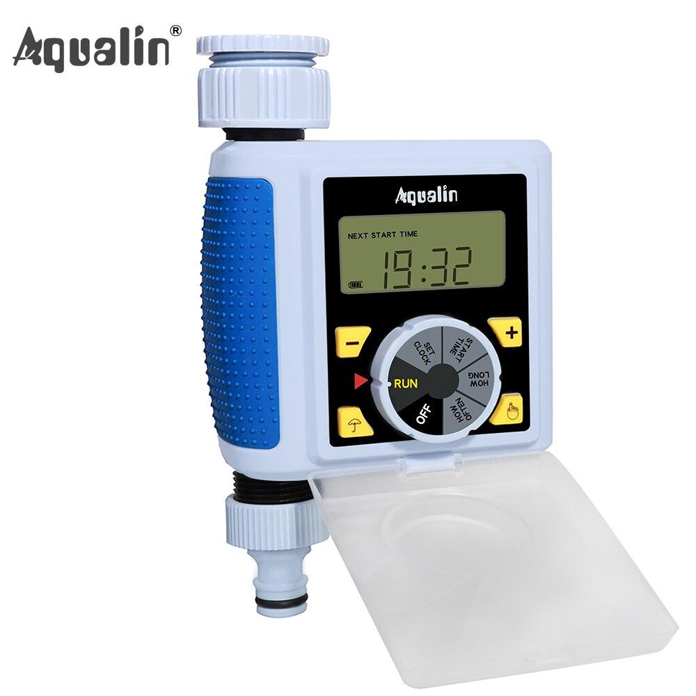 New Big Dial & Tela Grande LCD Temporizador De Água Eletrônico Automático Controlador de Válvula Solenóide de Irrigação Do Jardim Sistema #21055