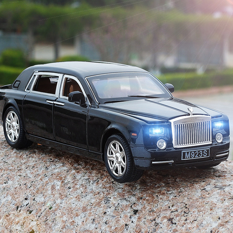 Alloy 1:24 Rolls Royce Phantom Lengthened Cohes Diecast Toys Vehicles Models Metal Cars Mini Boy Gift Collection For Children