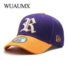 Wuaumx Unisex Cotton Baseball Caps For Men Womens Summer Hat Street Style Hip Hop Snapback Cap 2018 NEW Casquette 4 Colors