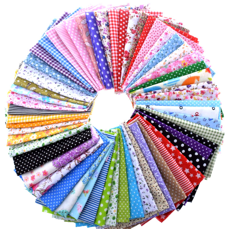Random Color Cotton Fabric Printed Patchwork Bundle For Sewing Fat Scrapbooking Pattern 10x10cm 30Pieces/Lot