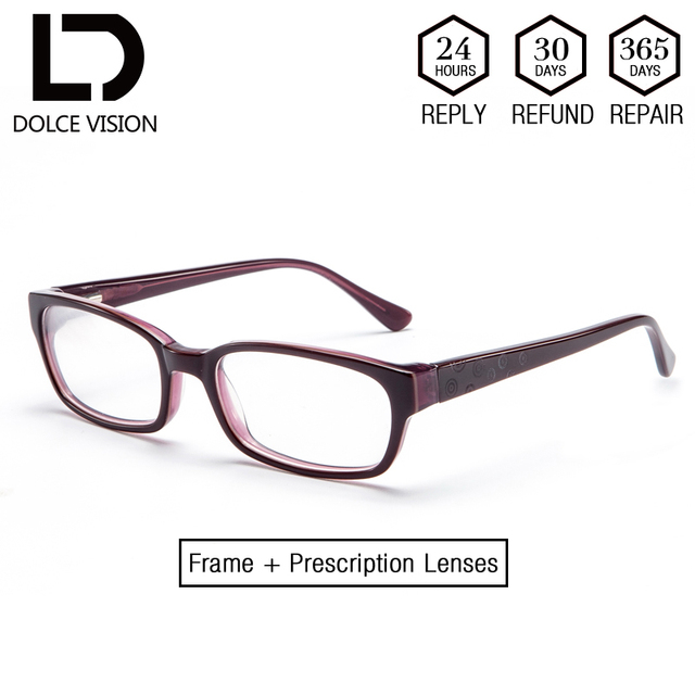 8cb346f70c DOLCE VISION Rectangle Optical Glasses Women Spiral Pattern Diopter Lady Spectacles  Prescription Lens Corrective Glasses Female