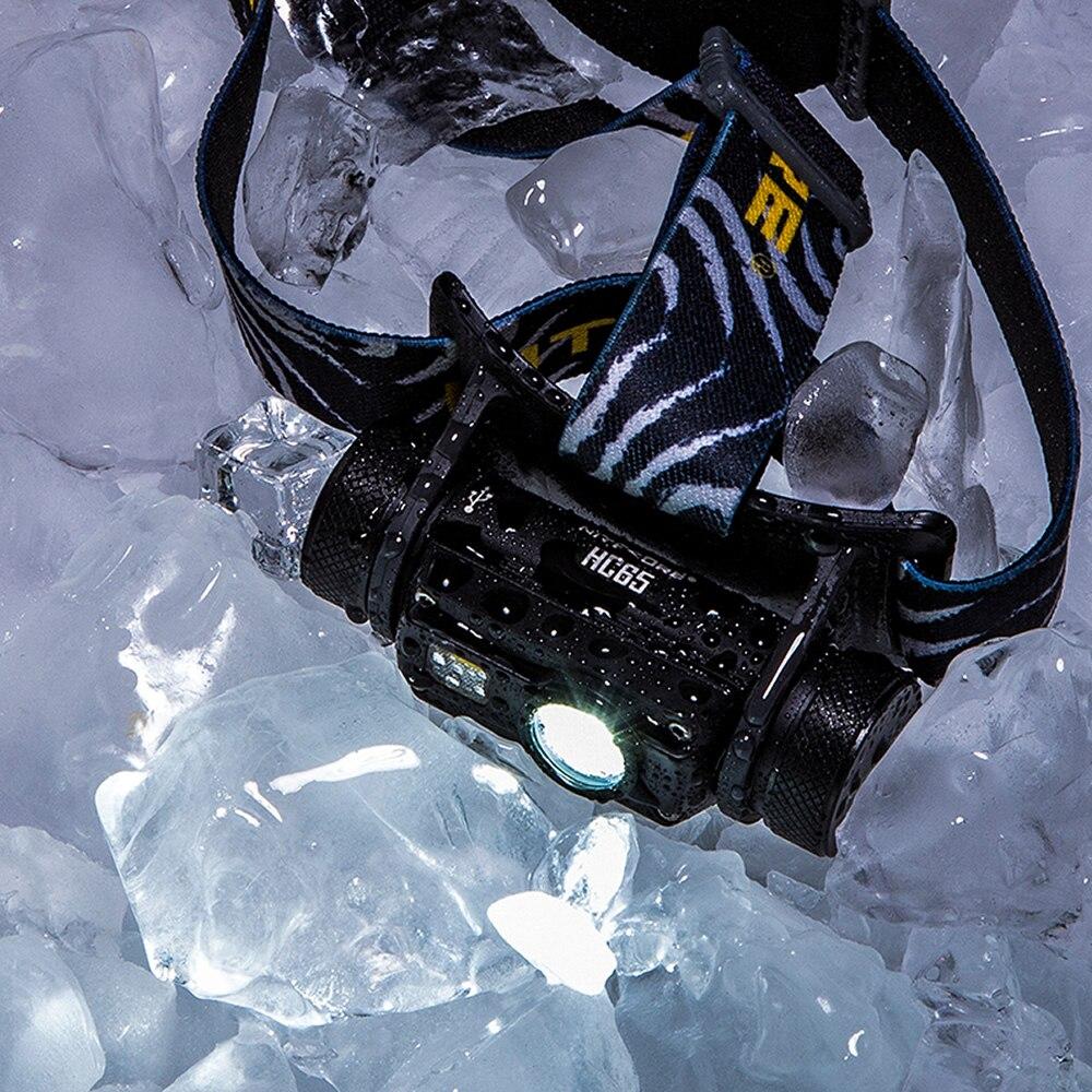 Nitecore HC65 18650 rechargeable LED Phare CREE U2 1000LM Triple Sortie Ourdoor Phare lampe de Poche Étanche Livraison Gratuite - 5
