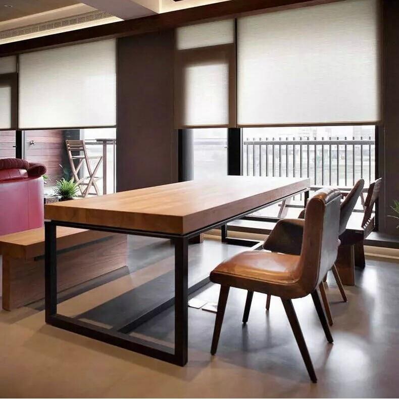Americana de hierro sillas de conferencia mesa de comedor for Sillas de escritorio de madera