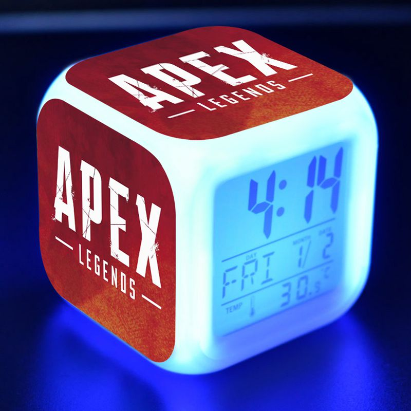 <font><b>Apex</b></font> Legends Game Figure Juguetes LED Colorful Light Alarm Clock Battle Royale <font><b>Apex</b></font> Legends Boys Popular Figurines <font><b>Toys</b></font> image