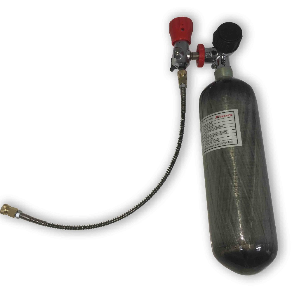 Acecare Mini Hpa Paintball Co2 Tank 300bar Cylinder Pcp 2.17L CE M18*1.5 For Compressed Air Rifles Soda Stream