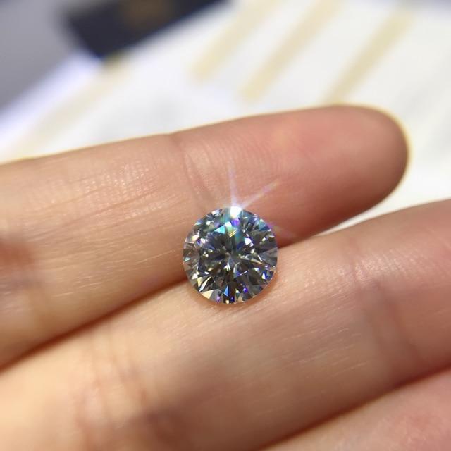 Round Moissanite white D VVS 1.00ct 6.5mm barestone custom Moissanite ring Pendants for naked diamond