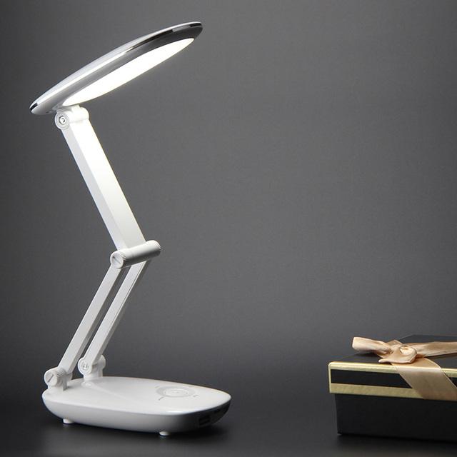 Regulável Recarregável USB Sensor De Toque Tabela LED Desk Lamp Light 21 LEDs Lâmpada de Leitura do Livro de Cabeceira para Cama