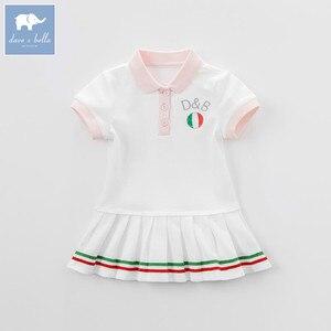 Image 3 - DB7614เดฟเบลล่าเด็กสาวกีฬาชุดเด็กทารกเด็กวัยหัดเดินผ้าฝ้าย100%เสื้อผ้าเด็กฤดูร้อนน่ารักลูกเล่นชุด