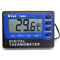 TM803 Fridge Freezer Thermometer With Alarm C F 1C 3m Cable Length Min Max