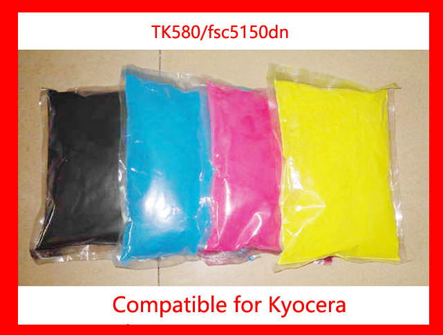 Free Shipping Compatible for Kyocera TK580 for FS-C5150DN Chemical Color Toner Powder printer color powder 4KG