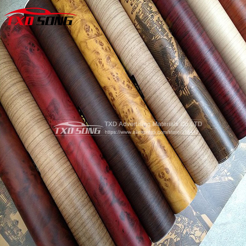 10/20/30/40/50/60X124CM/LOT Premium Wood Grain Film Fiber Vinyl Wrap Car Sticker Moto Auto Interior PVC Film with free shipping соусник elan gallery листок 15 7 5 2 5 см 2 секции