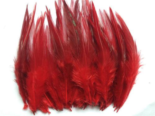 Горячая распродажа! 50 шт синее перо фазана, длина 10-15 см, DIY украшения для ювелирных изделий - Цвет: red