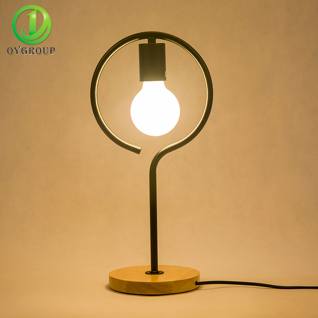 Modern Led Table Light Solid Wood Base Design Bedside Desk Lights Lamp 110v