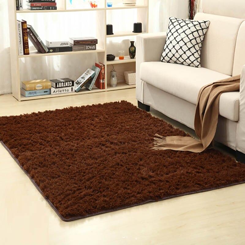High Quality Carpets Modern Rectangle Children Playing Pad Solid Plush Carpet Coffee Door Mats Non-slip Bathroom Carpet Tapis