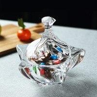 6'' Sea Star Crystal Glass Jewelry Organizer Decorative Candy Box Sugar Jar Glassware Gift Craft Marine Ornament Accessories
