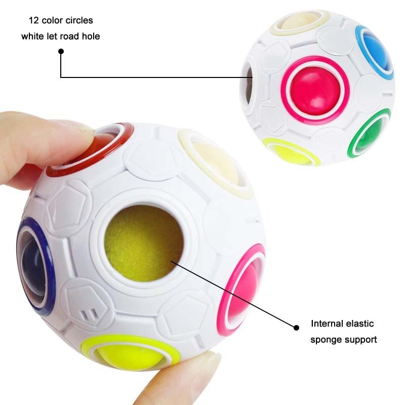 New Stress Reliever Magic Rainbow Ball გართობა Magic - ფაზლები - ფოტო 2