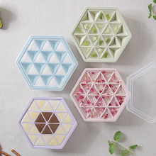 Creative Simple Homemade with Lid Ice Tray Household Refrigerator Small Ice Mold Plastic Hexagonal Quick-Frozen Ice Cube Tray new brand greenure gre1002 refrigerator ice