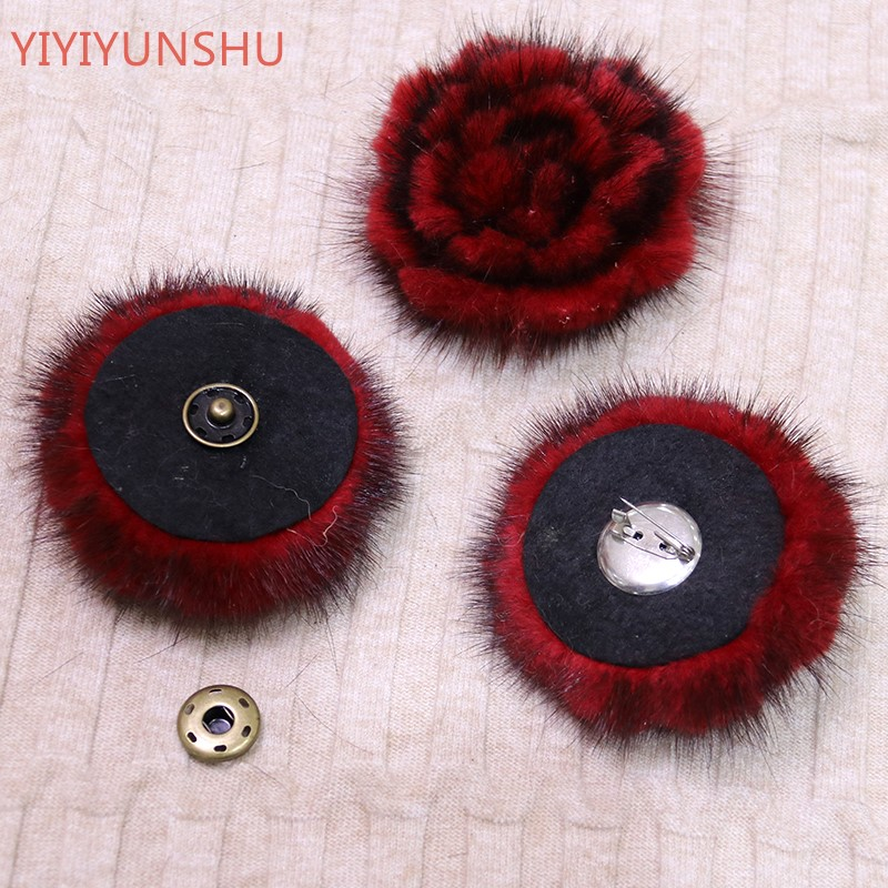 Real Mink Fur Pompon Flower Ball For Hats Shoes Bags Accessories Genuine Real Fur Pompom Fur Flower Pom Poms for Hats & Caps 12cm real mink fur ball keychain on the keys fluffy real fur pompom car for couples fur ball key chains fur cap beanie