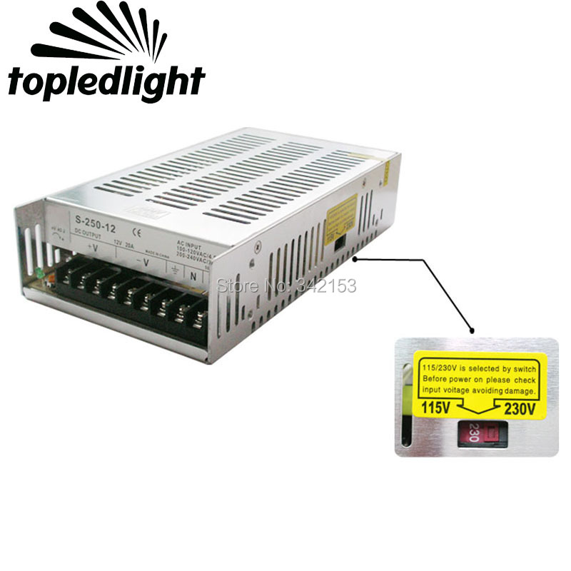 Lighting Accessories DC12V 20A 240W Universal Regulated Switching Power Supply Use For CCTV Cameras Led Strips Home Appliances aluminum dc 12v 29a 350w universal switching power supply adapter led driver for cctv cameras led strips home appliances