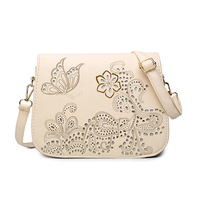 Flowers And Butterflies Vintage Hollow Out Shoulder Bag Ladie Saddle Messenger Bags Women Hand Bags
