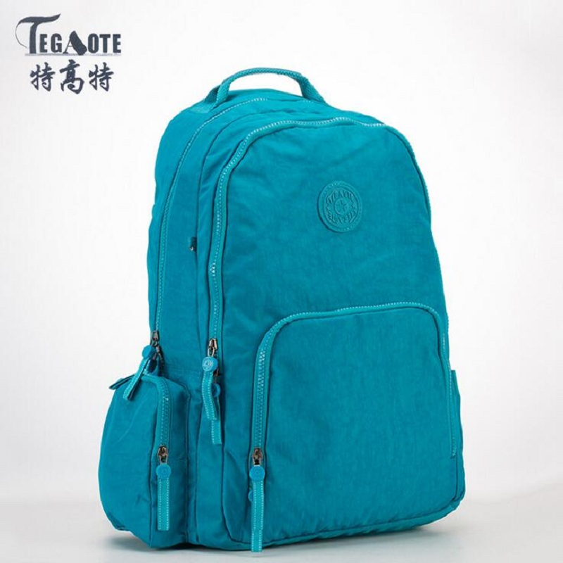 TEGAOTE Mochila Feminina School Backpack for Teenage Girls Nylon Waterproof Laptop Backpack Female Casual Bagpack Women Rucksack tegaote nylon waterproof school backpack for girls feminina mochila mujer backpack female casual multifunction women laptop bag