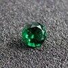 Brazil round shape created emerald gemstone beads jewelry diy making faceted bright cut gemstones beads May birthstone AAAAA