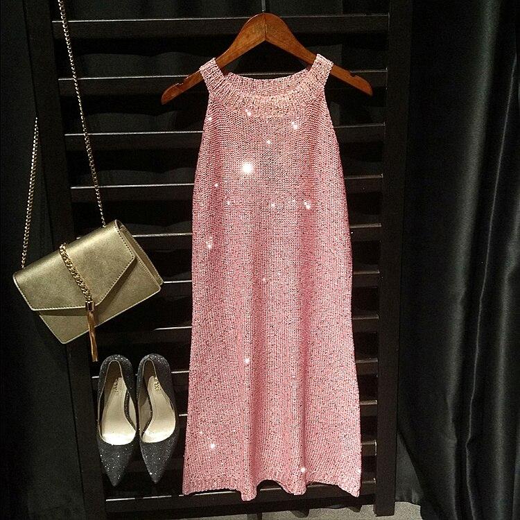 Ofertas especiales Mujeres bling sequined vestidos de fiesta verano ...