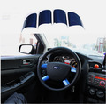 Accessories FIT FOR FORD FOCUS MK2 4 SPOKE STEERING WHEEL INSERT TRIM COVER BADGE CAP S-MAX BLUE