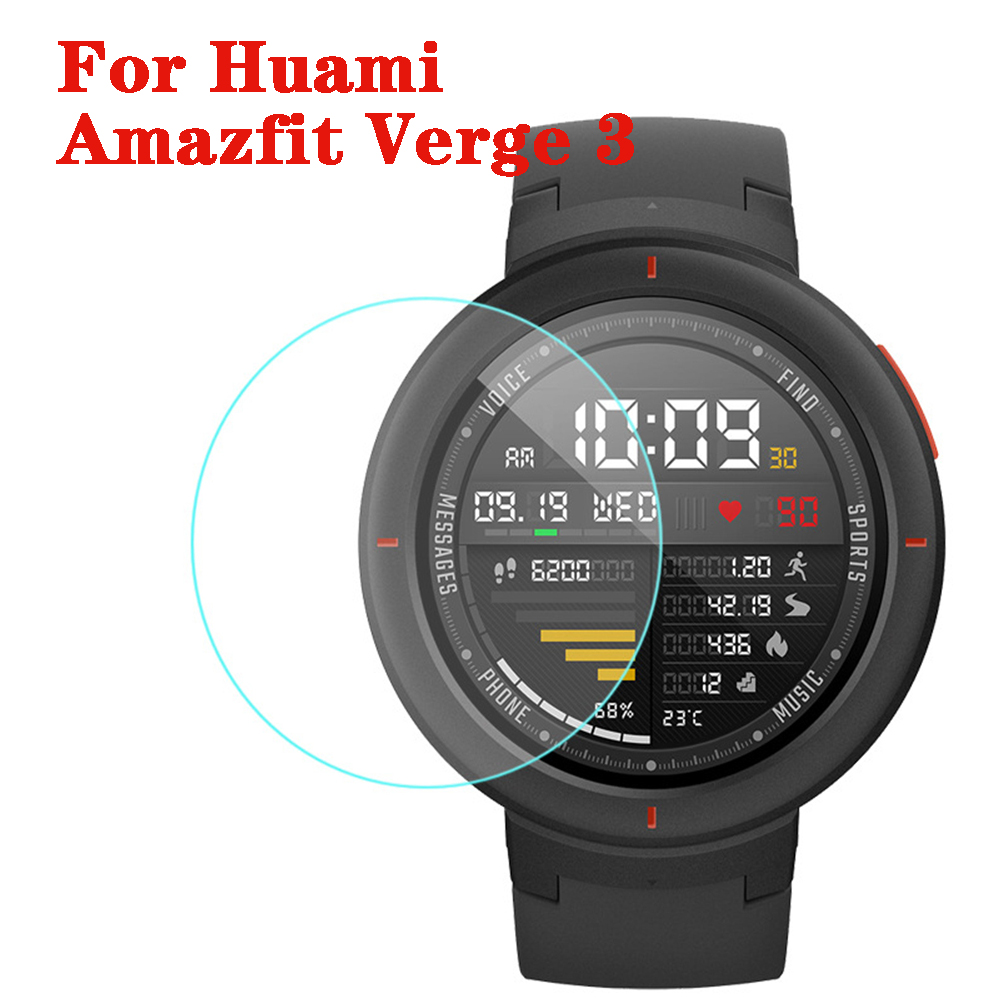 Tempered Glass Screen Protector For Xiaomi Huami Amazfit Verge 3 Protective Film Guard Anti Explosion Anti-shatter