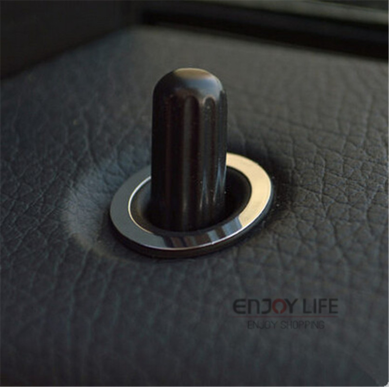 4pcs car door lock pin knob button trim ring cover sticker for benz glk class x204 cls class. Black Bedroom Furniture Sets. Home Design Ideas