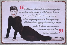 1 piece Quotes Life Actress Monroe sign Tin Plate Sign wall Room man cave Decoration Art Dropshipping Poster metal
