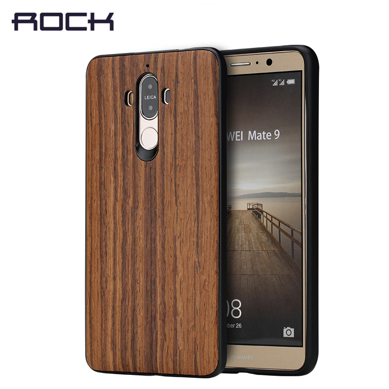 ROCK Textured series Phone Case for Huawei Mate 9 case Grained wooden soft cover for Mate