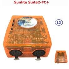 Классический Виртуальный диско Dj контроллер USB DMX интерфейс Dj контроллер Sunlite Suite2-FC + компьютерный контроллер легко работать