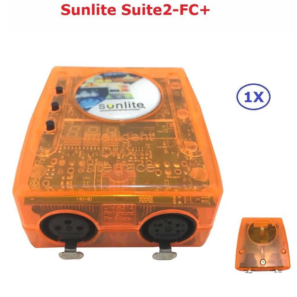 Classique Virtuel Dj Disco Contrôleur USB DMX Interface Dj Contrôleur Sunlite Suite2-FC + Ordinateur Contrôleur Facile À Utiliser